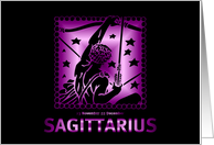 Birthday - Sagittarius card