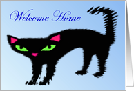 Welcome Home From Pet - Black Kitty card