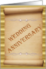 Wedding Anniversary - Scroll card