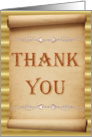 Thank You - Scroll card