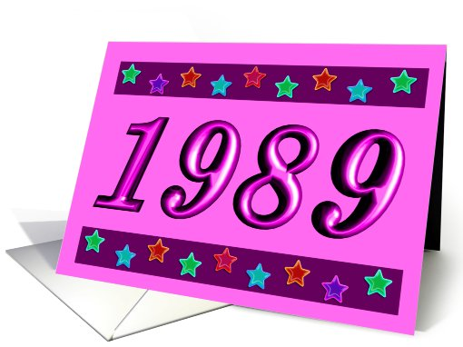1989 - BIRTHDAY  card (484279)