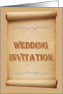 Wedding Invitation Scroll card