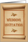 Wedding Invitation Love Hearts card