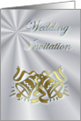 Wedding Invitation Gold Wedding Bells card