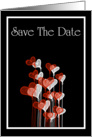 Save The Date with love hearts card