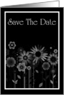 Save The Date with love heart and stars card