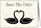 Save The Date with flowers and scrolls for Engagment card