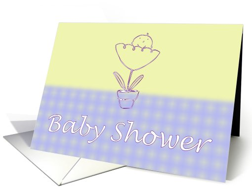 Baby Shower Invitation. Baby infant newborn in flower card (821954)