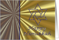 Hanukkah Jewish holiday with Star of David card