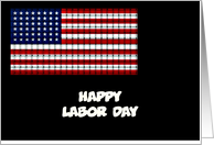 Happy Labor Day with American flag woven card
