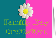 Family Day Invitation with daisy flower card