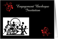Engagement Barbeque Invitation custom card Engagement BBQ card