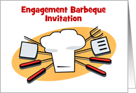 Engagement Barbecue Invitation custom card Engagement BBQ card