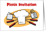 Picnic Invitation custom card party invitation card