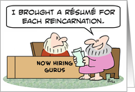 A resume for each reincarnation card