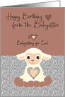 Happy Birthday to Ewe from the Babysitter card