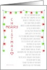 Merry Christmas Not Just Another Holiday Religious Jesus Poem card