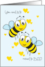 Meant to Bee Happy Anniversary for Spouse card