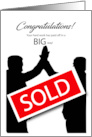 Business SOLD Congratulations card