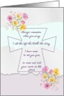 Cast Your Cares On Me Encouragement Prayer card