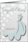 Yes to the Bridal Dress Congratulations card