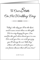 To Our Son on His Wedding Day - Black and White#2 card