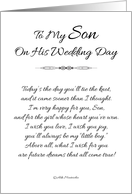 To My Son on His Wedding Day - Black and White#2 card