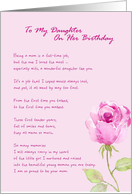 To My Daughter On Her Birthday from Mother card