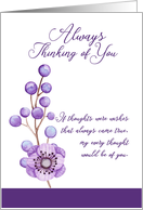 Always Thinking of You Floral card