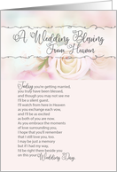 A Wedding Blessing from Heaven Deceased Parent of Bride or Groom card