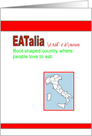 Eatalia Dinner Party Invitation card