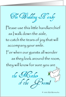 The Wedding Hanky - Mother of the Groom card