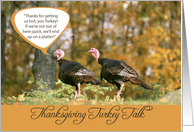 Thanksgiving Turkey Humor card