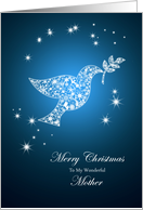 For mother,Dove of peace Christmas card