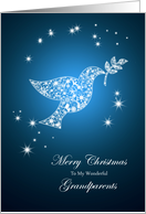 For grandparents,Dove of peace Christmas card