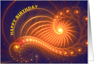 Curling lines and lights Birthday card