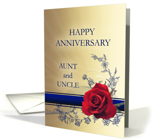 Aunt and Uncle Wedding Anniversary , card (389269)