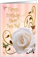 White rose Birthday card for Pen Pal card