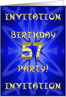57 Years old Birthday Party invitation card