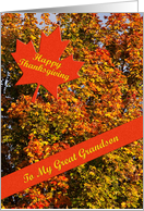 Thanksgiving card for Great grandson card
