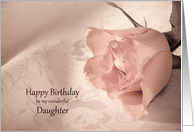 Daughter, Birthday with a Pink Rose card