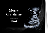 Mom, Black and White Christmas card