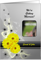 Wedding Invitation Yellow Flowers card
