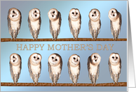 Curious owls funny Mother's Day card