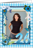 26th Birthday Photo Craft Look card