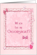 A Groomsmaid invitation craft-look card