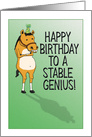 Stable Genius Horse Funny Birthday card