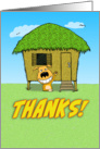Funny dog thank you card