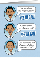 Yes We Can birthday card