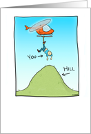 Funny Over the Hill birthday card